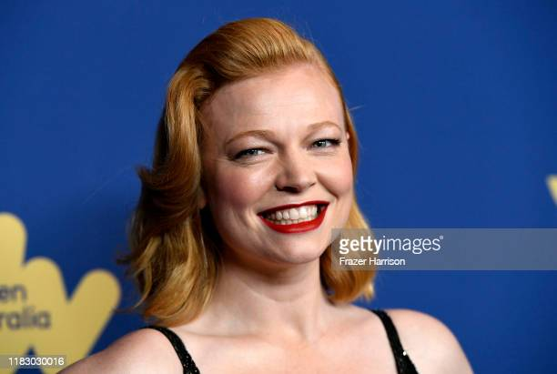 Sarah Snook attends the Australians In Film Awards at InterContinental Los Angeles Century City on October 23 2019 in Los Angeles California