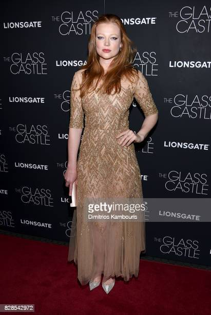 Sarah Snook attends The Glass Castle New York Screening at SVA Theatre on August 9 2017 in New York City