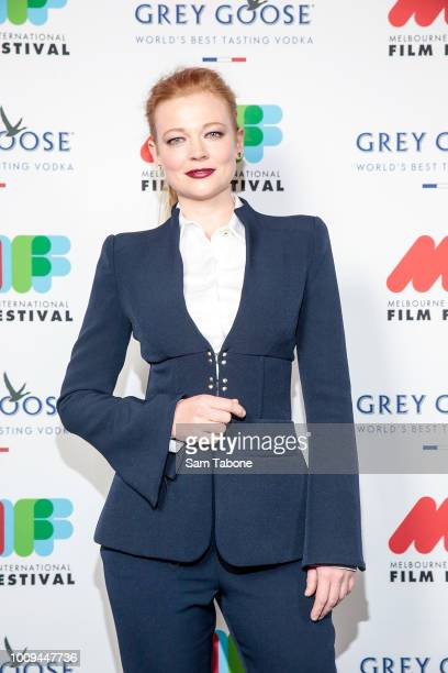 Sarah Snook attends the Melbourne International Film Festival 2018 Opening Night on August 2 2018 in Melbourne Australia