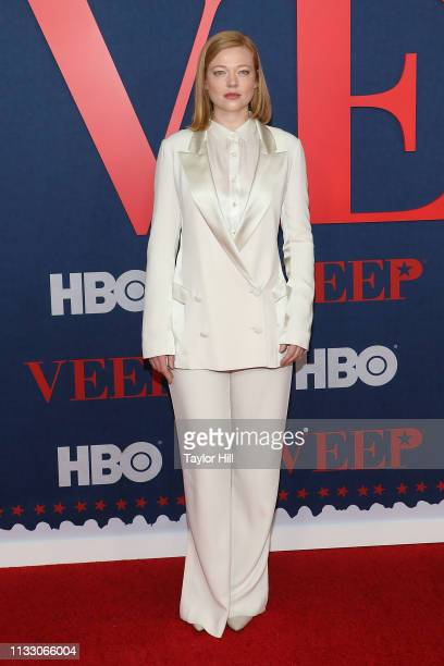 Sarah Snook attends the premiere of the final season of Veep at Alice Tully Hall on March 26 2019 in New York City