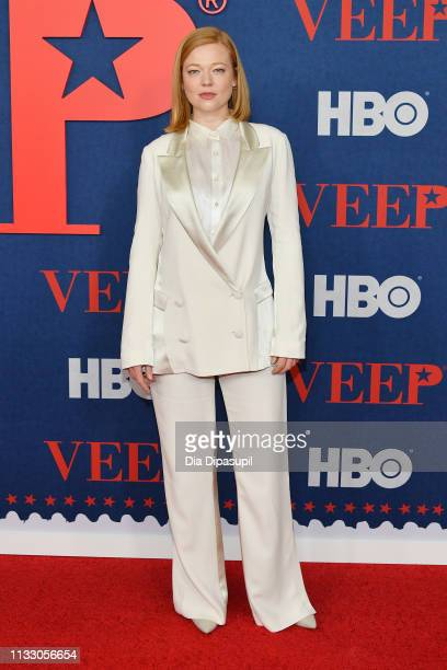 Sarah Snook attends the Veep Season 7 premiere at Alice Tully Hall Lincoln Center on March 26 2019 in New York City
