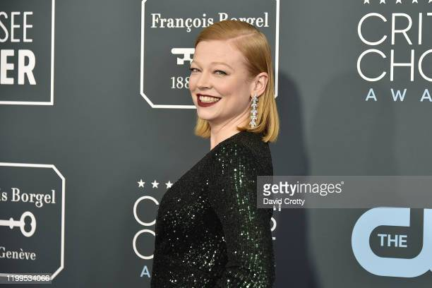 Sarah Snook during the arrivals for the 25th Annual Critics' Choice Awards at Barker Hangar on January 12 2020 in Santa Monica CA