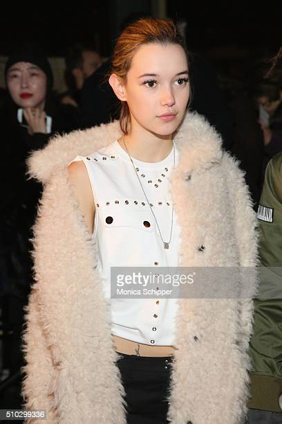 Sarah Snyder attends the Opening Ceremony Fall 2016 fashion show during New York Fashion Week on February 14 2016 in New York City