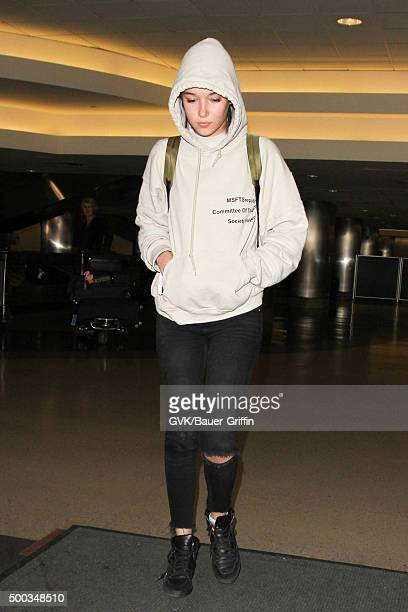 Sarah Snyder is seen at LAX on December 07 2015 in Los Angeles California