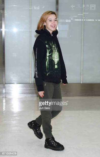 Sarah Snyder is seen at Narita International Airport on April 22 2017 in Tokyo Japan
