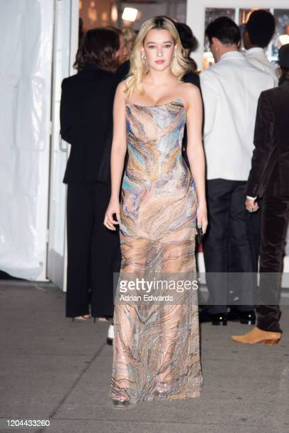 Sarah Snyder outside the amFAR Gala held at Cipriani Wall St on February 5, 2020 in New York City.