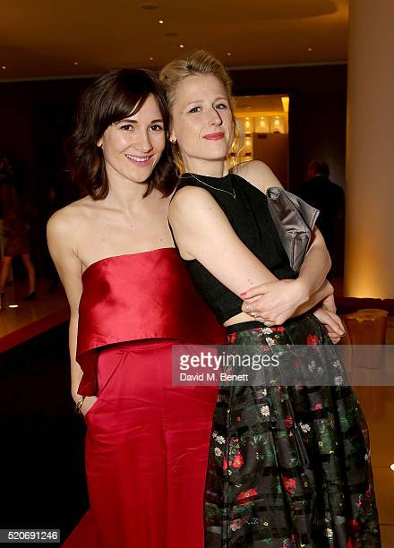 Sarah Solamani and Mamie Gummer attend the Florence Foster Jenkins premiere after party at Asia de Cuba at St Martins Lane on April 12 2016 in London...