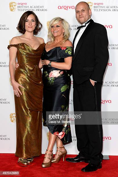 Sarah Solemani and Camille Coduri with Ricky Champ attends the Arqiva British Academy Television Awards at Theatre Royal on May 18 2014 in London...