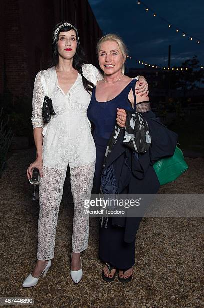 Sarah Sophie Flicker and Debbie Harry attends the Rachel Comey Spring 2016 show during New York Fashion Week at Pioneer Works on September 9 2015 in...