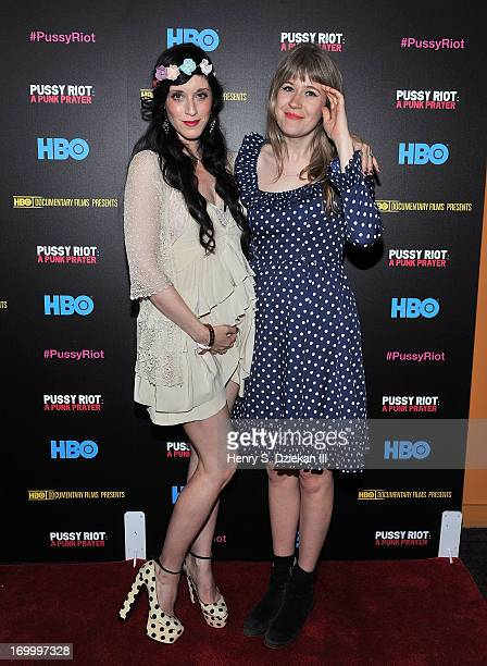 Sarah Sophie Flicker And Tennessee Thomas Attend The Hbo With The Cinema Society Screening Of