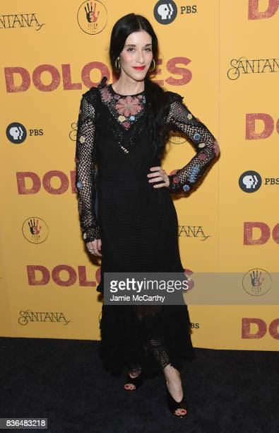Sarah Sophie Flicker attends the 'Dolores' New York Premiere at The Metrograph on August 21 2017 in New York City
