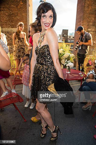 Sarah Sophie Flicker attends the Erin by Erin Fetherston spring 2013 presentation during MercedesBenz Fashion Week at The Standard Hotel on September...