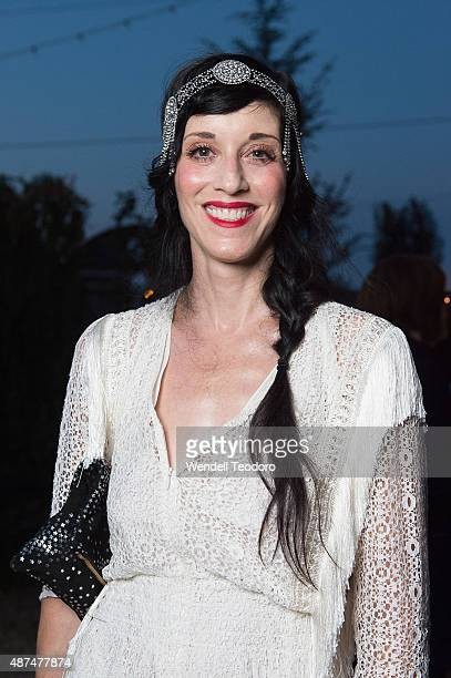 Sarah Sophie Flicker attends the Rachel Comey show at Pioneer Works on September 9 2015 in the Brooklyn borough of New York City