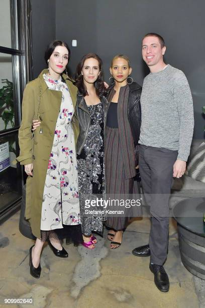Sarah Sophie Flicker Paola Mendoza Tabitha St Bernard Jacobs and Adam Jacobs attend Conde Nast The Women March's Dinner Party to Celebrate the One...