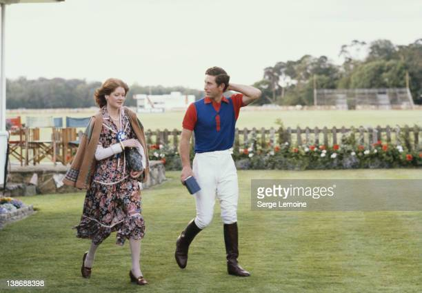 Sarah Spencer with her future brotherinlaw Prince Charles at a polo match July 1977 She is the older sister of Diana the future Princess of Wales
