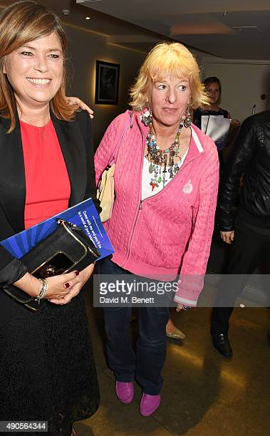 Sarah Standing and Carol Thatcher attend the press night of Pure Imagination The Songs of Leslie Bricusse at the St James Theatre on September 29...
