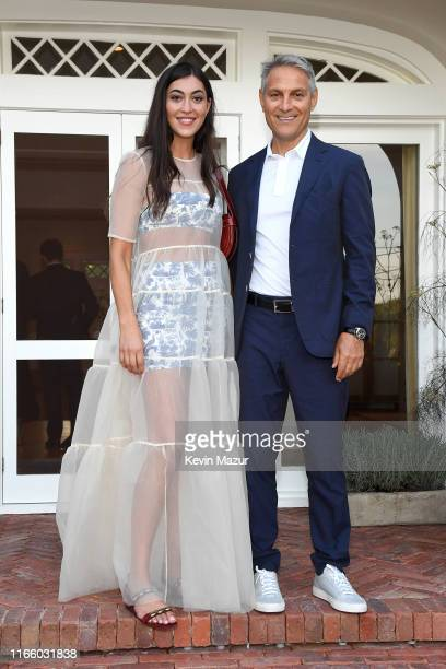 Sarah Staudinger and Ari Emanuel attend Apollo in the Hamptons 2019 Hosted by Ronald O Perelman at The Creeks on August 03 2019 in East Hampton New...