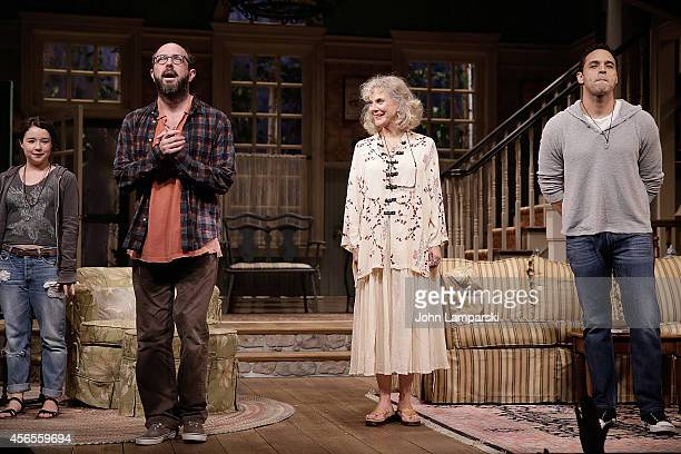 Sarah Steele Eric Lange Blythe Danner and Daniel Sunjata perform during the 'The Country House' Opening Night Arrivals Curtain Call at Samuel J...