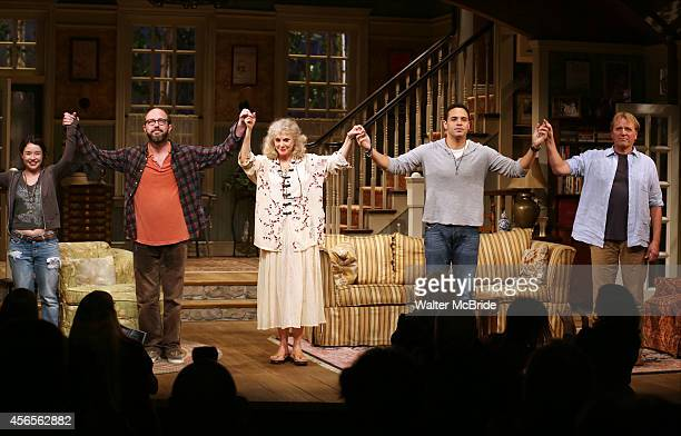 Sarah Steele Eric Lange Blythe Danner Daniel Sunjata and David Rasche during the Broadway Opening Night Performance Curtain Call for 'The Country...