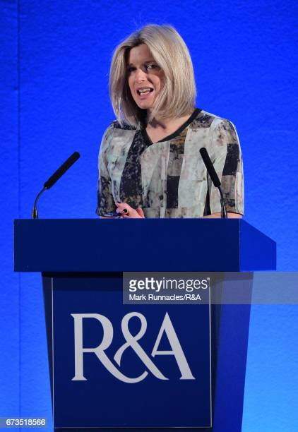 Sarah Stirk Conference Host speaks to delegates during the second day of the RA International Golf Conference at the Fairmont Hotel on April 26 2017...