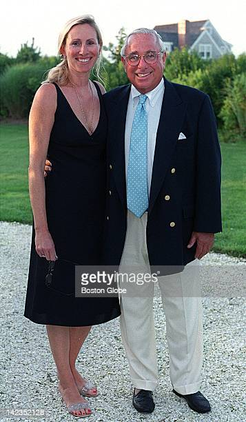 Sarah Strader of ManchesterbytheSea who just became engaged to Donald Sigmund of Washington DC attends the American Ireland Fund party at the home of...