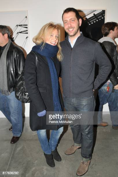 Sarah Sutton and Nathan Harger attend Artist's Reception with NATHAN HARGER at Hasted Kraeutler on December 9th 2010 in New York City