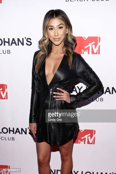 Sarah Tariq attends MTV's 'Lindsay Lohan's Beach Club' Premiere Party at Moxy Times Square on January 7 2019 in New York City