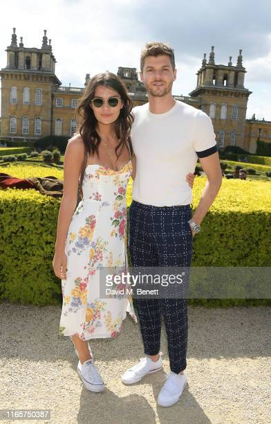 Sarah Tarleton and Jim Chapman attend The Gentleman's Journal and Bicester Village Long Summer Lunch on August 02, 2019 in Woodstock, England.