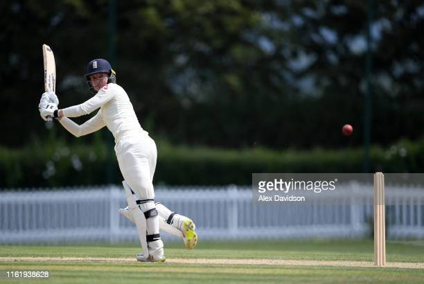 Sarah Taylor of England bats during Day Three of the International Friendly match between England Women and Australia A Women at Millfield School on...