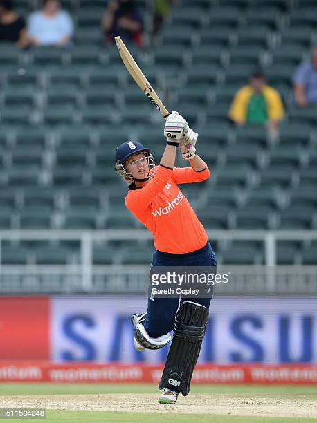 Sarah Taylor of England bats during the 3rd T20 International match between South Africa and England at Wanderers Stadium on February 21 2016 in...