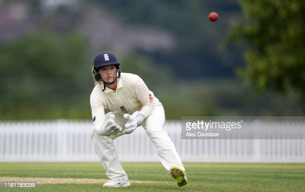 Sarah Taylor of England catches the ball during Day Two of the International Friendly match between England Women and Australia A Women at Millfield...