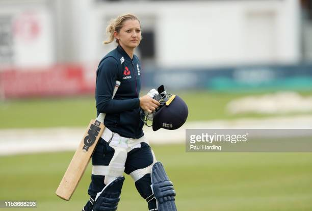Sarah Taylor of England during a Training session at Grace Road on June 04 2019 in Leicester England
