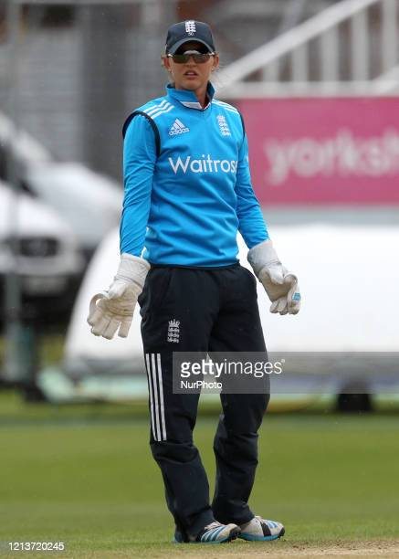 Sarah Taylor of England during the First One Day International between England Women and India Women at Scarborough CC, North Marie Road, Scarborough...