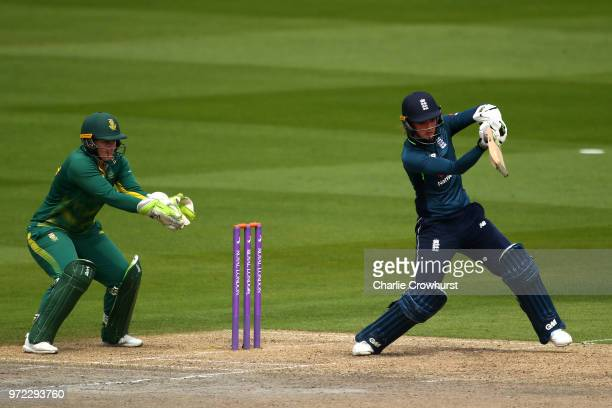 Sarah Taylor of England hits out during the ICC Women's Championship 2nd ODI match between England Women and South Africa Women at The 1st Central...