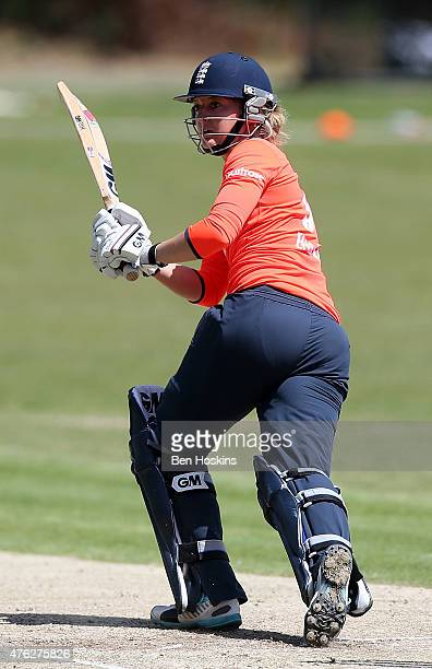 Sarah Taylor of England in action during England Women's Charity Day at Hampstead Cricket Club on June 7 2015 in Hampstead England