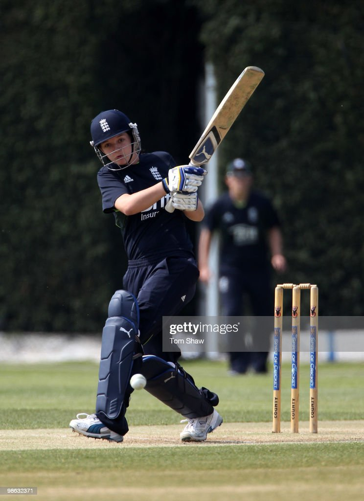 Sarah Taylor of England in action during the England Women's Cricket Team training session at the ECB Academy on April 23, 2010 in Loughborough, England.
