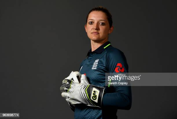 Sarah Taylor of England poses for a portrait on May 30 2018 in Loughborough England