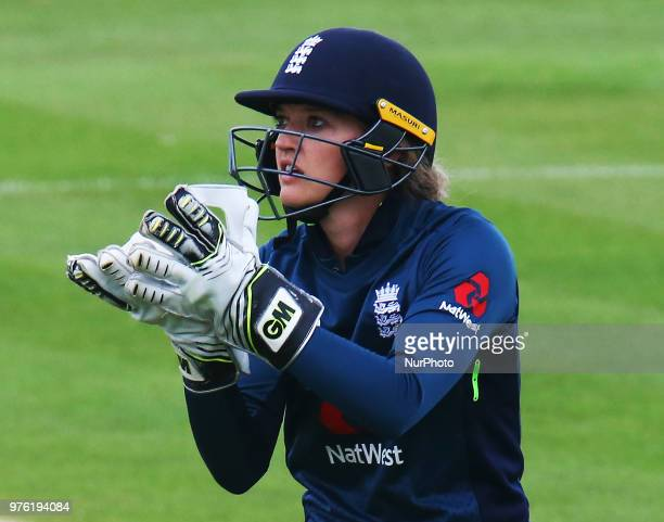 Sarah Taylor of England Women during Women's One Day International Series match between England Women against South Africa Women at The Spitfire...