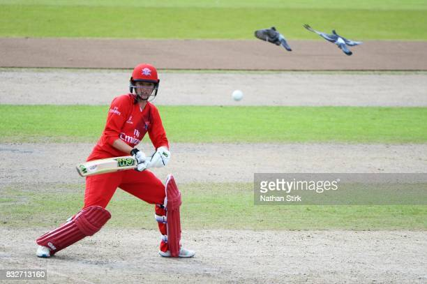 Sarah Taylor of Lancashire Thunder batting during the Kia Super League 2017 match between Lancashire Thunder and Surrey Stars at Old Trafford on...