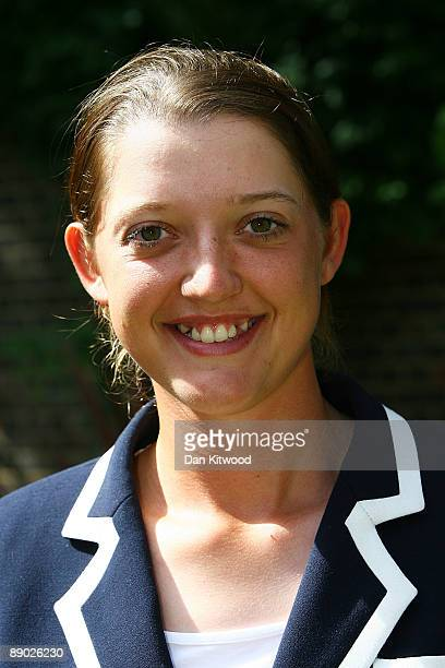 Sarah Taylor of the England Women's Cricket Team poses for a picture at Downing Street on July 14 2009 in London England England retained the ashes...