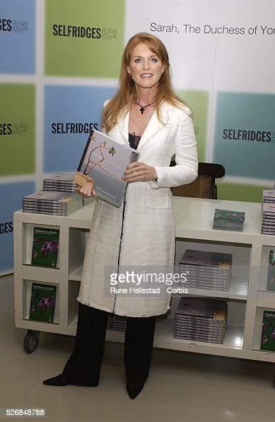 Sarah the Duchess of York booksigning at Selfridges in London