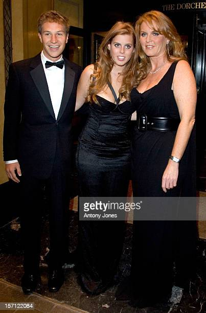 Sarah The Duchess Of York Princess Beatrice And Her Boyfriend David Clark Attend The Children In Crisis ' All That Jazz' At The Dorchester Hotel In...