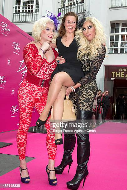 Sarah Tkotsch and guests attend the 'Dirty Dancing' musical premiere at Admiralspalast on April 27 2014 in Berlin Germany