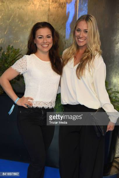 Sarah Tkotsch and her sister Sina Tkotsch during the Alcatel Entertainment Night feat Music Meets Media at Sheraton Berlin Grand Hotel Esplanade on...
