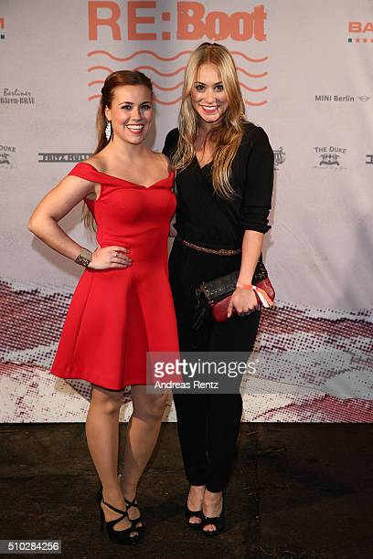 Sarah Tkotsch and Sina Tkotsch attend the Bavaria Film Party REBOOT on February 14 2016 in Berlin Germany