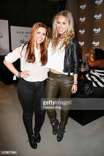 Sarah Tkotsch and Sina Tkotsch attend the Kylie Minogue For Sloggi Collection Presentation on April 23 2015 in Berlin Germany