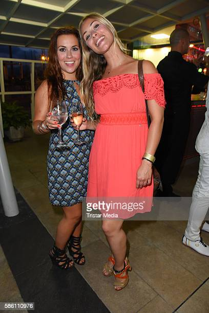 Sarah Tkotsch and Sina Tkotsch attend the Remus Lifestyle Night 2016 on August 4 2016 in Palma de Mallorca Spain