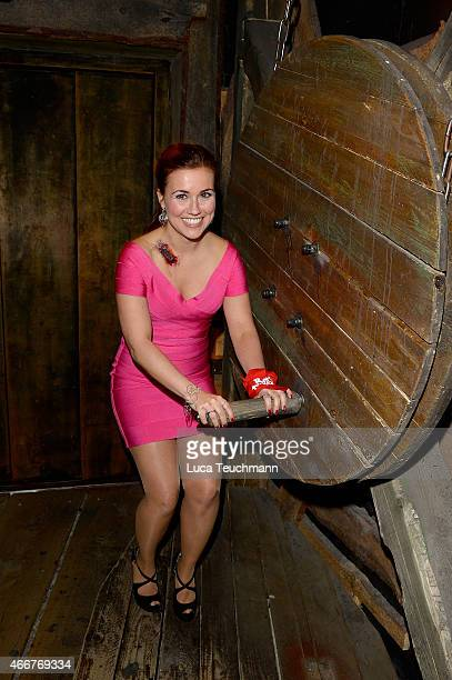 Sarah Tkotsch attends 'Revolution 1848' Show Premiere at Berlin Dungeon on March 18 2015 in Berlin Germany