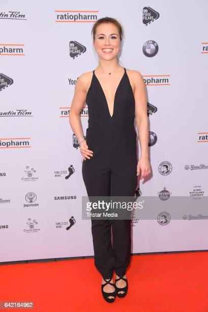 Sarah Tkotsch attends the 99FireFilmsAward at Admiralspalast on February 16 2017 in Berlin Germany