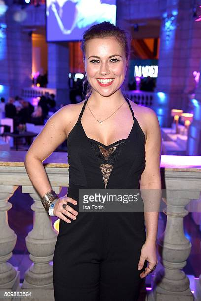 Sarah Tkotsch attends the ARD Hosts Blue Hour Reception on February 12 2016 in Berlin Germany